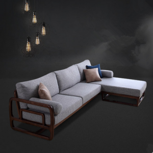 preorder- Fabric two-seat sofa+chaise longue