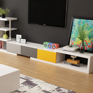 preorder- TV Bench with shelf unit