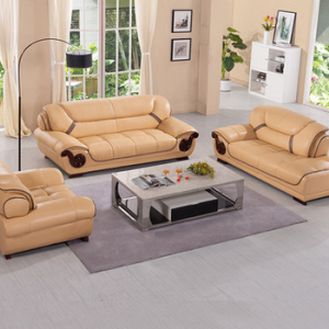 Preorder-Leather two-seat sofa+armchair+chaise longue