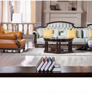 Preorder-Leather three-seat sofa+armchair +chaise longue
