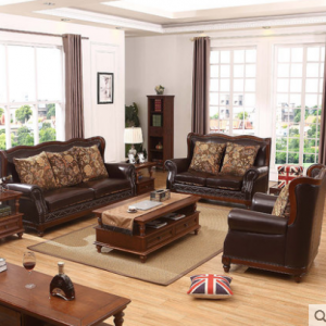 Preorder-Leather three-seat sofa+two-seat sofa+ armchair