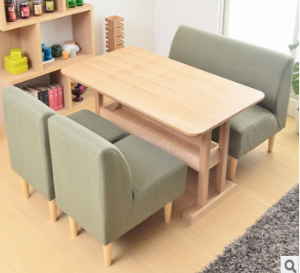 Preorder-Dining table+2 armchairs+two-seat sofa