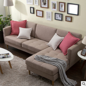 Preorder-Fabric two-seat sofa+chaise longue