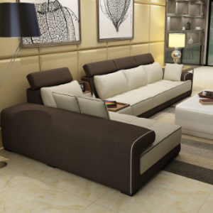 Preorder-Fabric three-seat sofa+chaise longue+sideboard