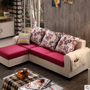 Preorder-Fabric three-seat sofa+foot stool