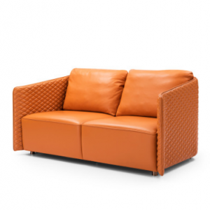 Preorder-Leather two-seat sofa