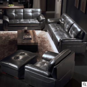 Preorder-Leather four-seat sofa+two-seat sofa+armchair+foot stool