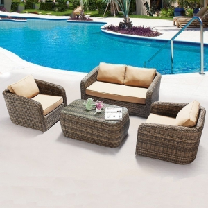 Preorder-outdoor two-seat sofa+2 armchairs+coffee table